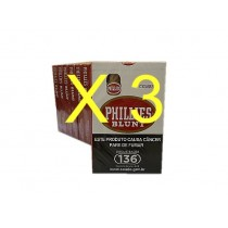 3 PACOTES CHARUTO PHILLIES BLUNT 10x5 cada pacote