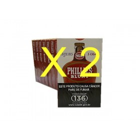 2 PACOTES CHARUTO PHILLIES BLUNT CONHAQUE 10x5 cada pacote