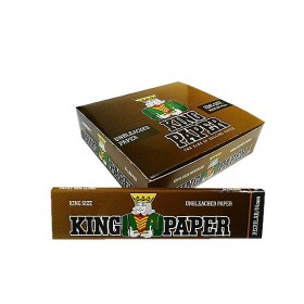 SEDA KING PAPER BROWN KING SIZE caixa com 20 livretos