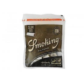 FILTRO PARA CIGARRO SMOKING BROWN 6mm pc c/120 unidades